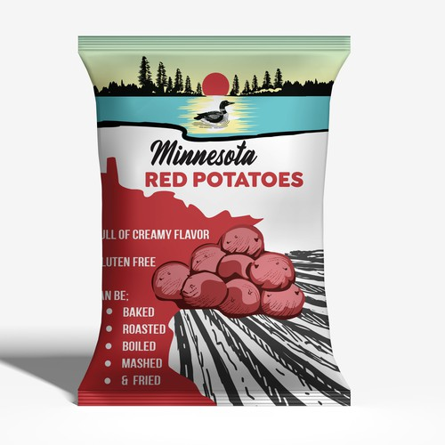 Minnesota RED Pototo beg design