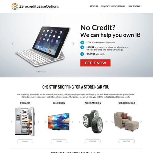 ZerocreditLeaseOptions.com Landing Page