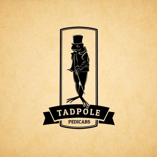 Vintage Tadpole Pedicabs Logo