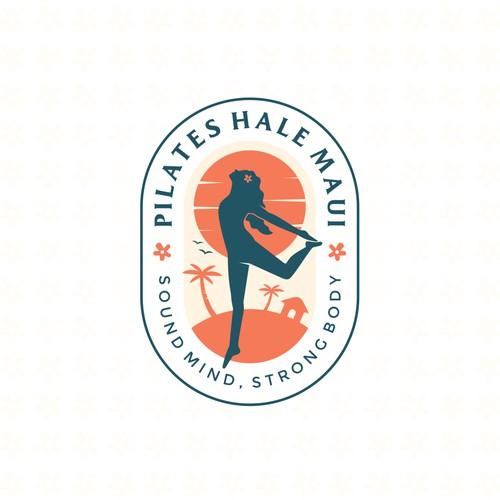 Pilates Hale Maui logo design