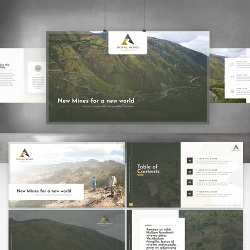 Royal Road Minerals Branded Presentation Template.