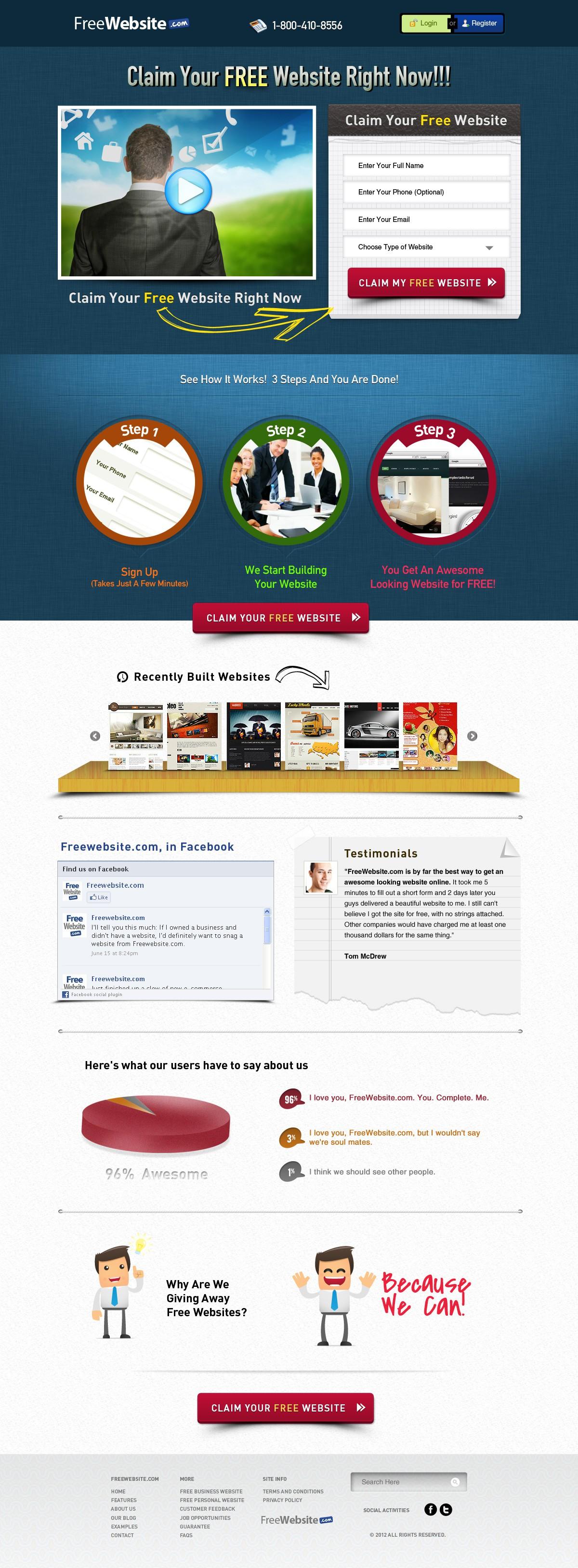 Help FreeWebsite.com with a new website design