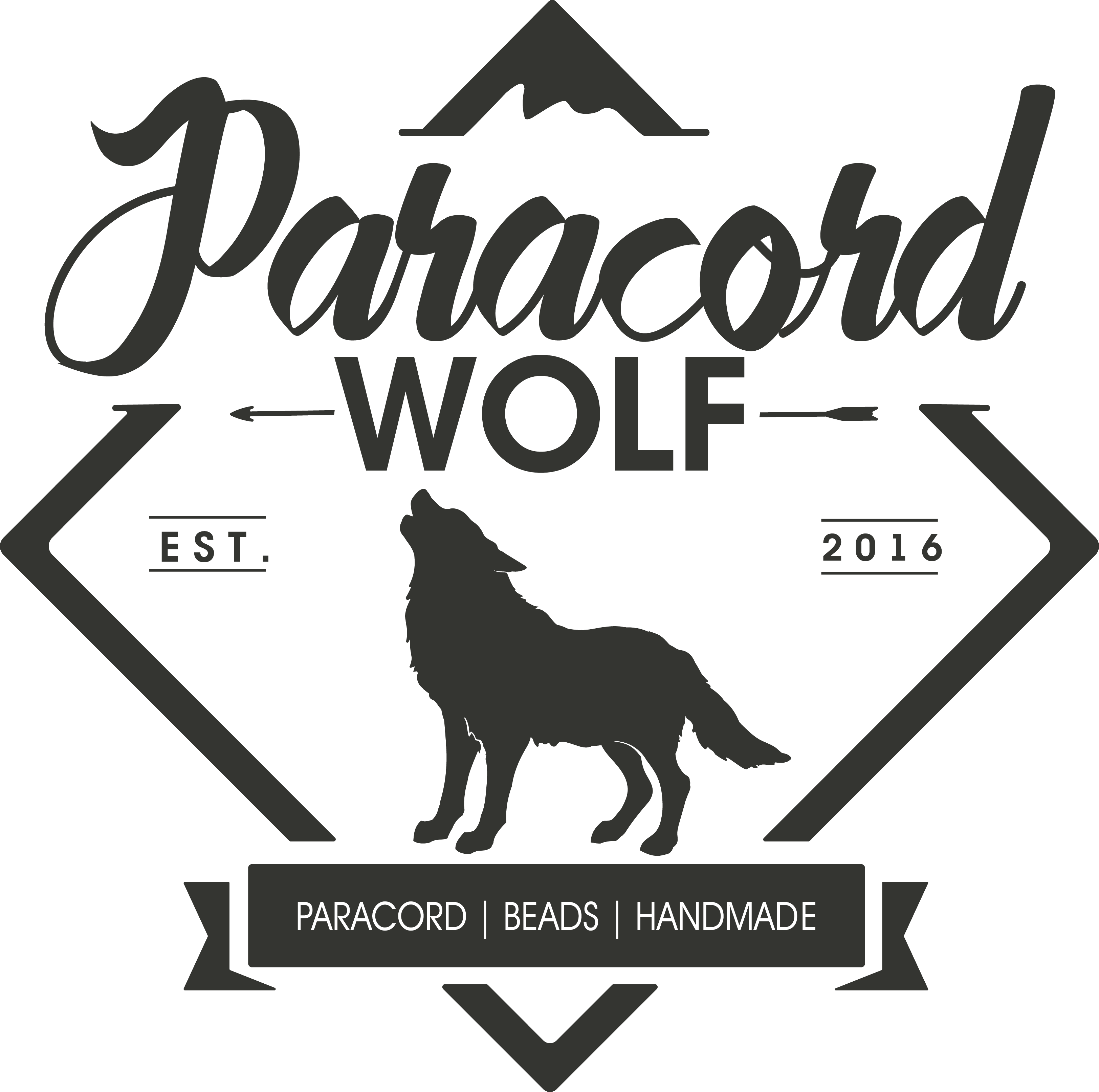 PARACORD WOLF needs a unique, noble and COMMERCIAL LOGO for our brand