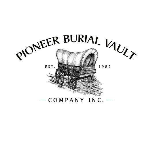 Logo Concept for Pioneer Burial Vault