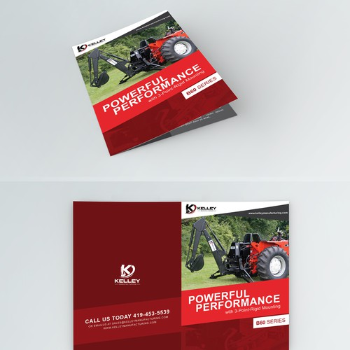 Create a Brochure for Farmers Looking to Purchase a New Backhoe Attachment