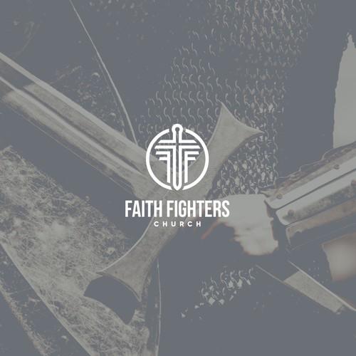 Design a modern looking logo for Faith Fighters Church