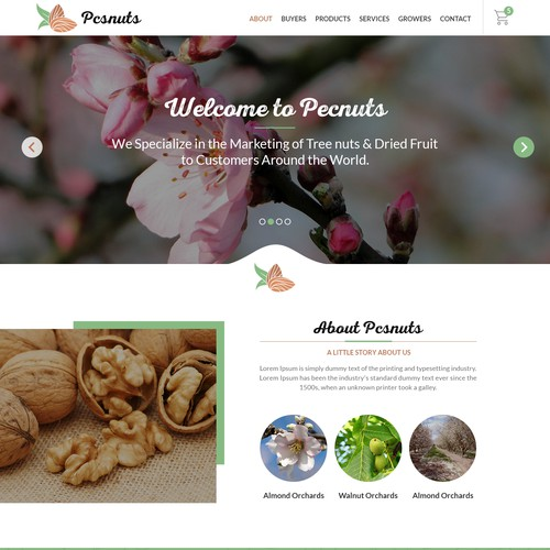 Catering website design