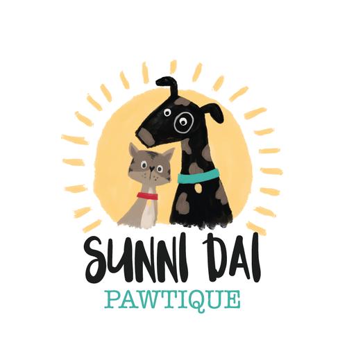 Painterly Dog & Cat Logo