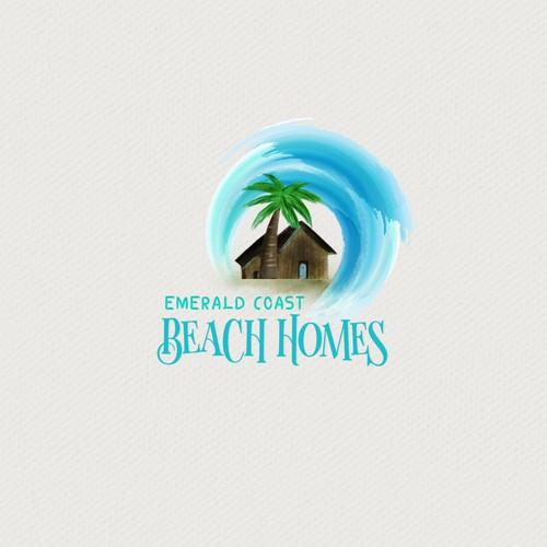 Emerald Coast Beach Homes Logo Design