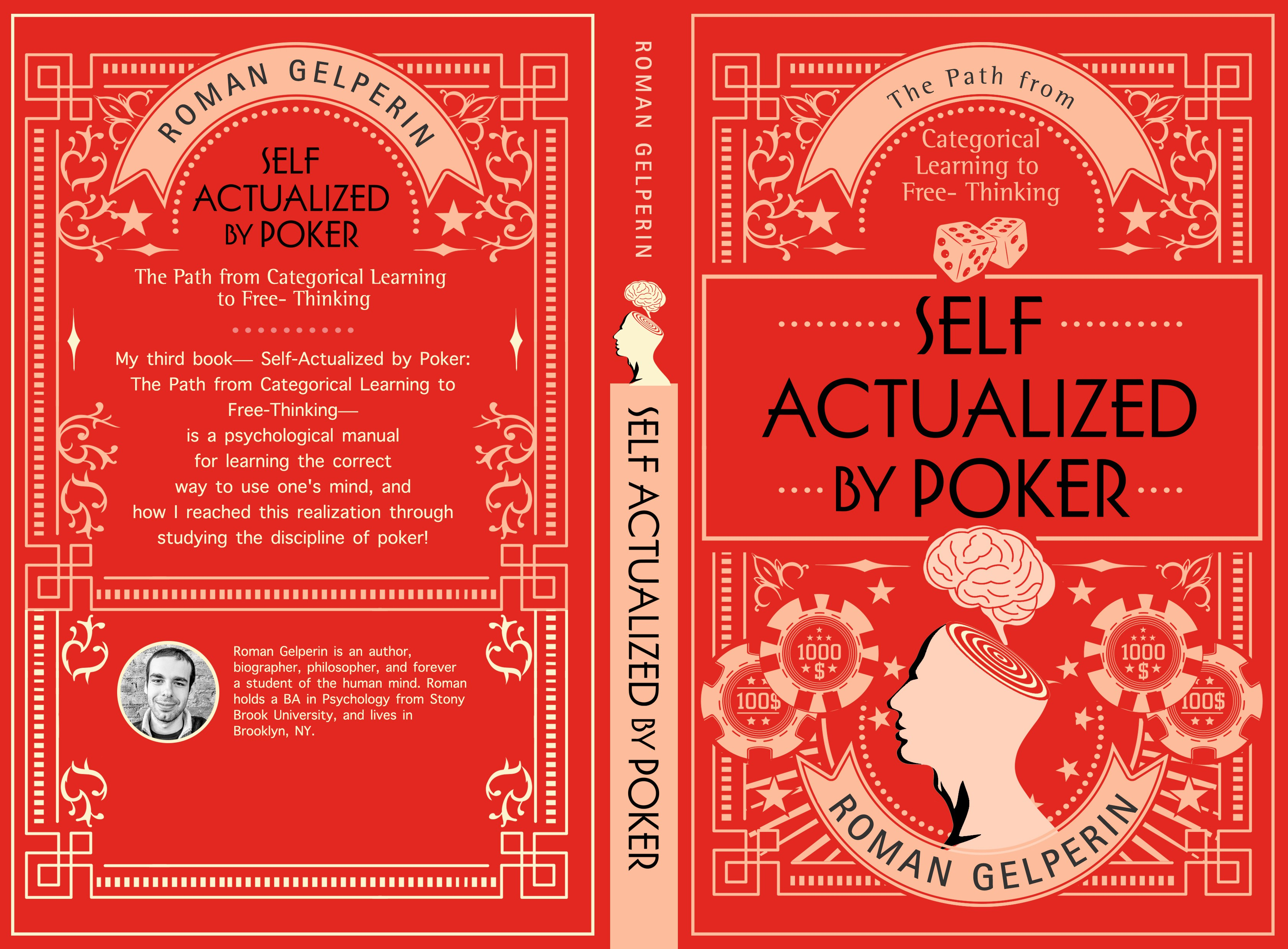 Self-Actualized by Poker! (Book Cover for a short book about Psychology and Poker)