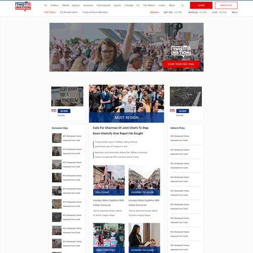 Wordpress Design for Political Blog