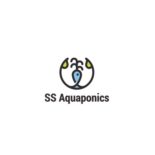 Creative logo for aquaponic farm