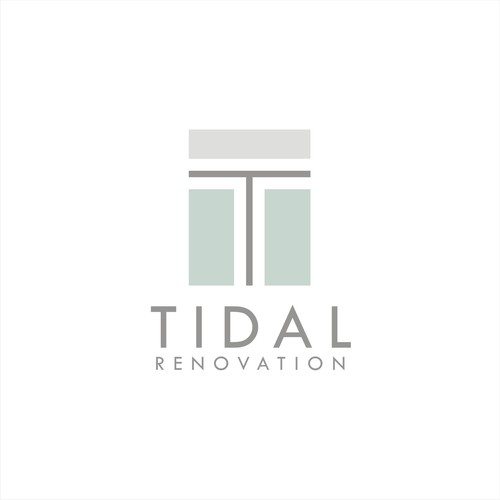 Minimal Coastal Inspiration Logo Design for renovation companyfor
