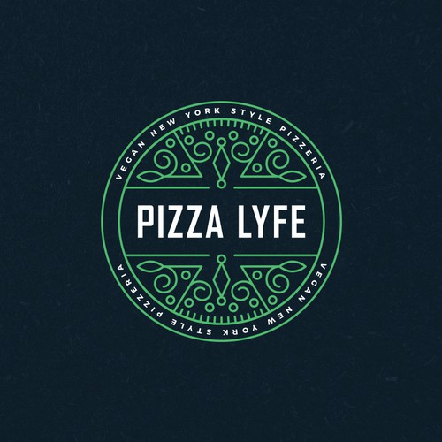 Modern Hip Pizza Logo