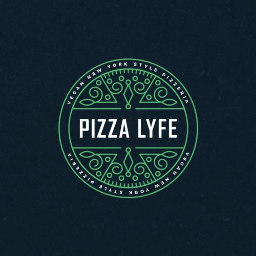 Modern Hip Pizza Logo