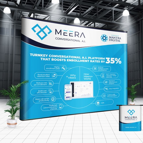 MEERA Conversational A.I. Trade show booth