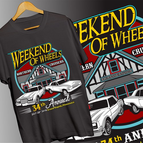 car show tshirt design