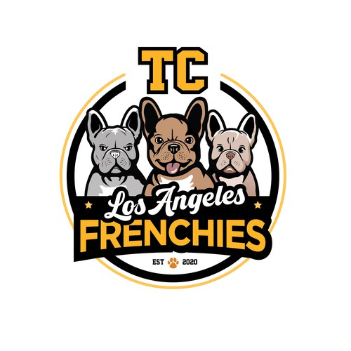 French Bulldogs Logo