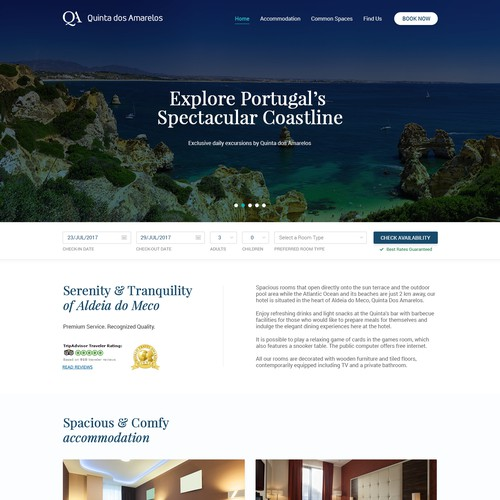 Modern & Clean Website Design for a Hotel
