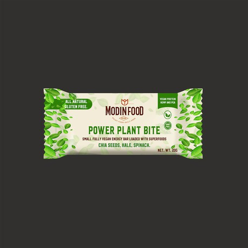 Organic Minimal design for Vegan Protein Bar