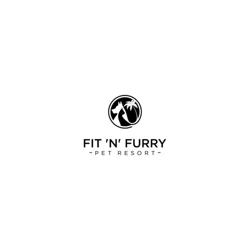 FIT N FURRY PET RESORT logo concept