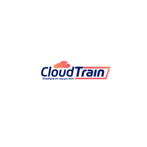 "Bold logo concept for ""Cloud Train"""