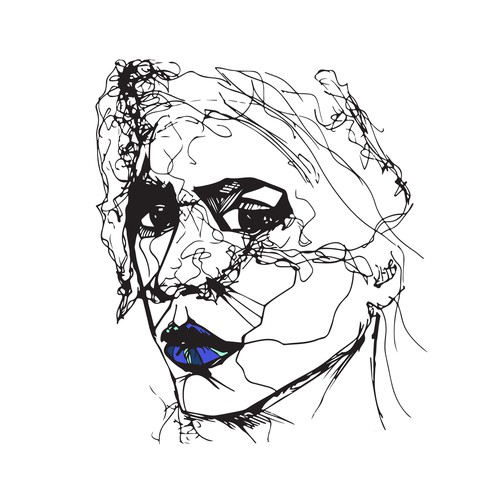 Woman's Face Illustration
