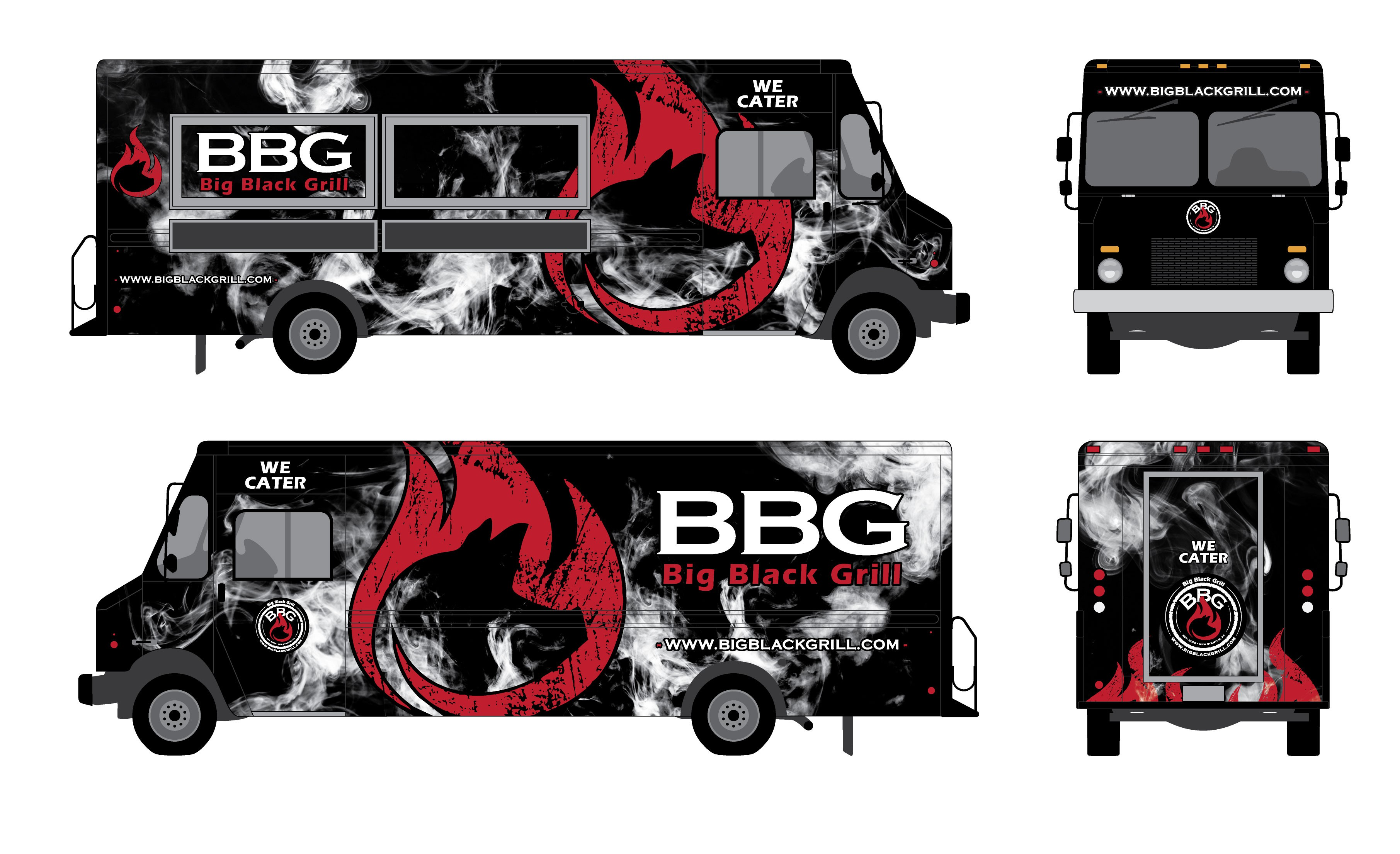 Big Black Grill needs a design for their  Food Truck Wrap