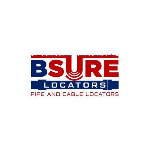 Literal and clear logo for pipe construction