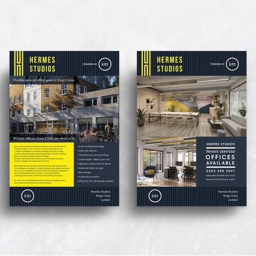 Hermes Studios - Flyer, A&V Boards Designs
