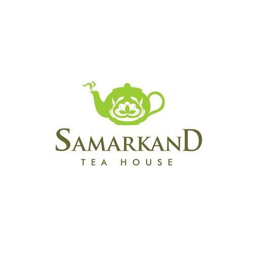 Design the signage for Samarkand Tea House in Devonport, Auckland