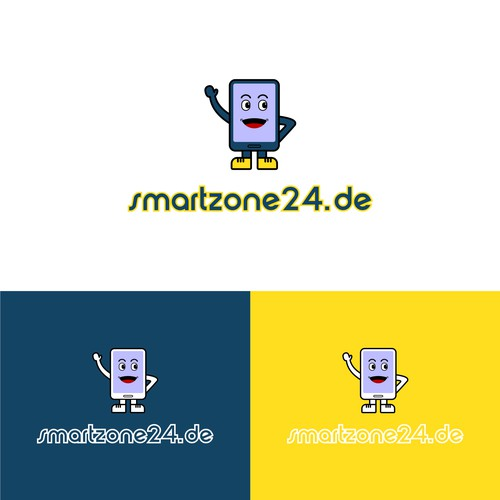 Fun smartphone logo design