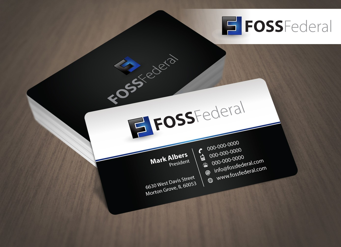 Create the next stationery for FOSS Federal