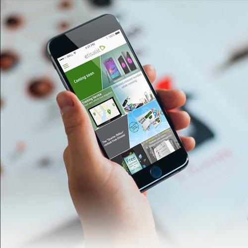 """""""Wayyak"""" mobile app new design"""
