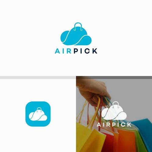Air Pick logo designs concept