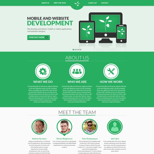 Mobile agency website redesign