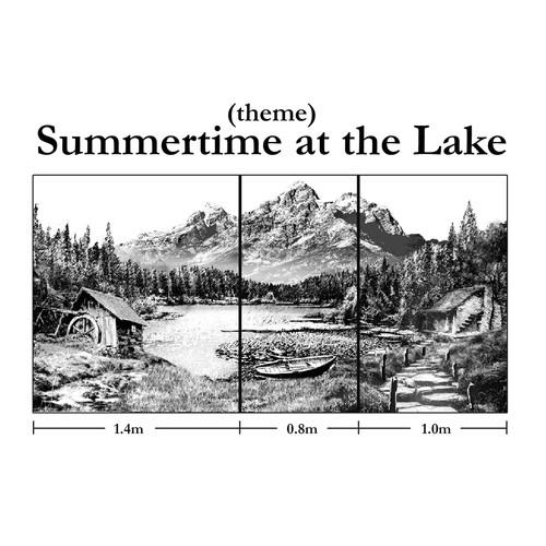 Summer themed landscape
