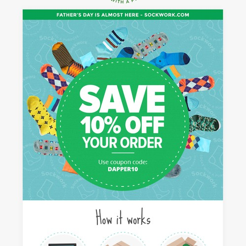Sockwork email design