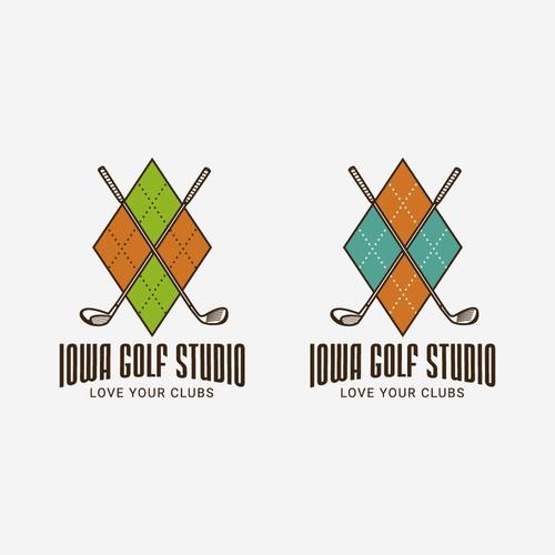 Iowa Golf Studio Logo Design Concept