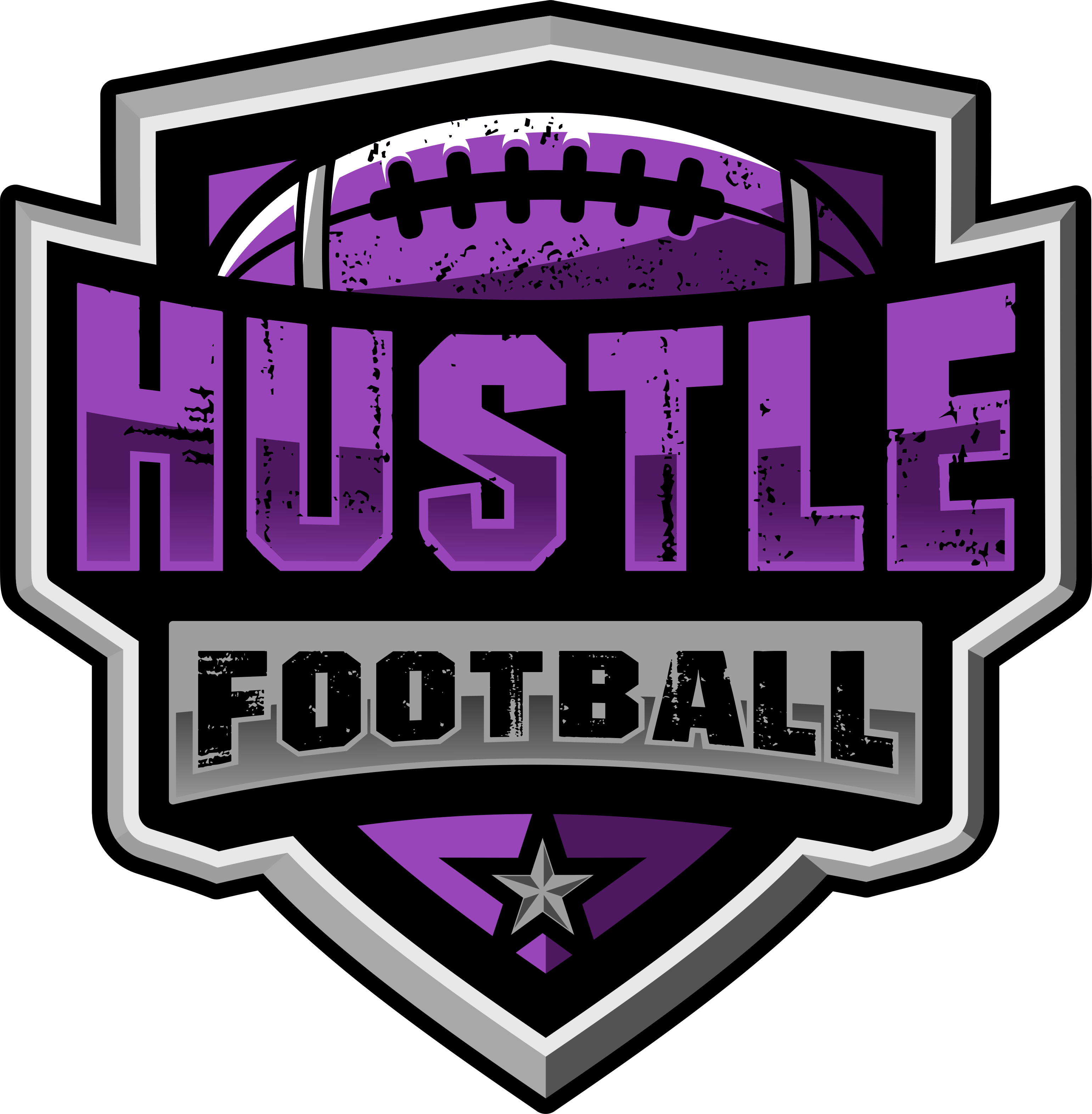 Create a powerful youth football team logo for young athletes.