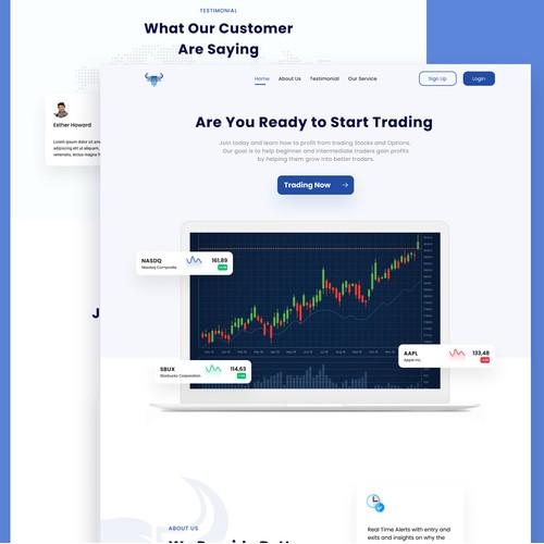 Platinum Stock Alerts Webpage Design