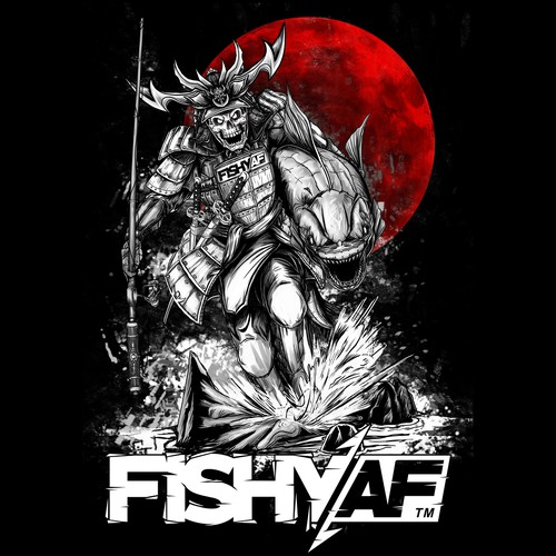 Samurai Fishing T-Shirt