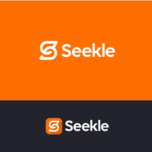 Simple and clear logo for Seekle app