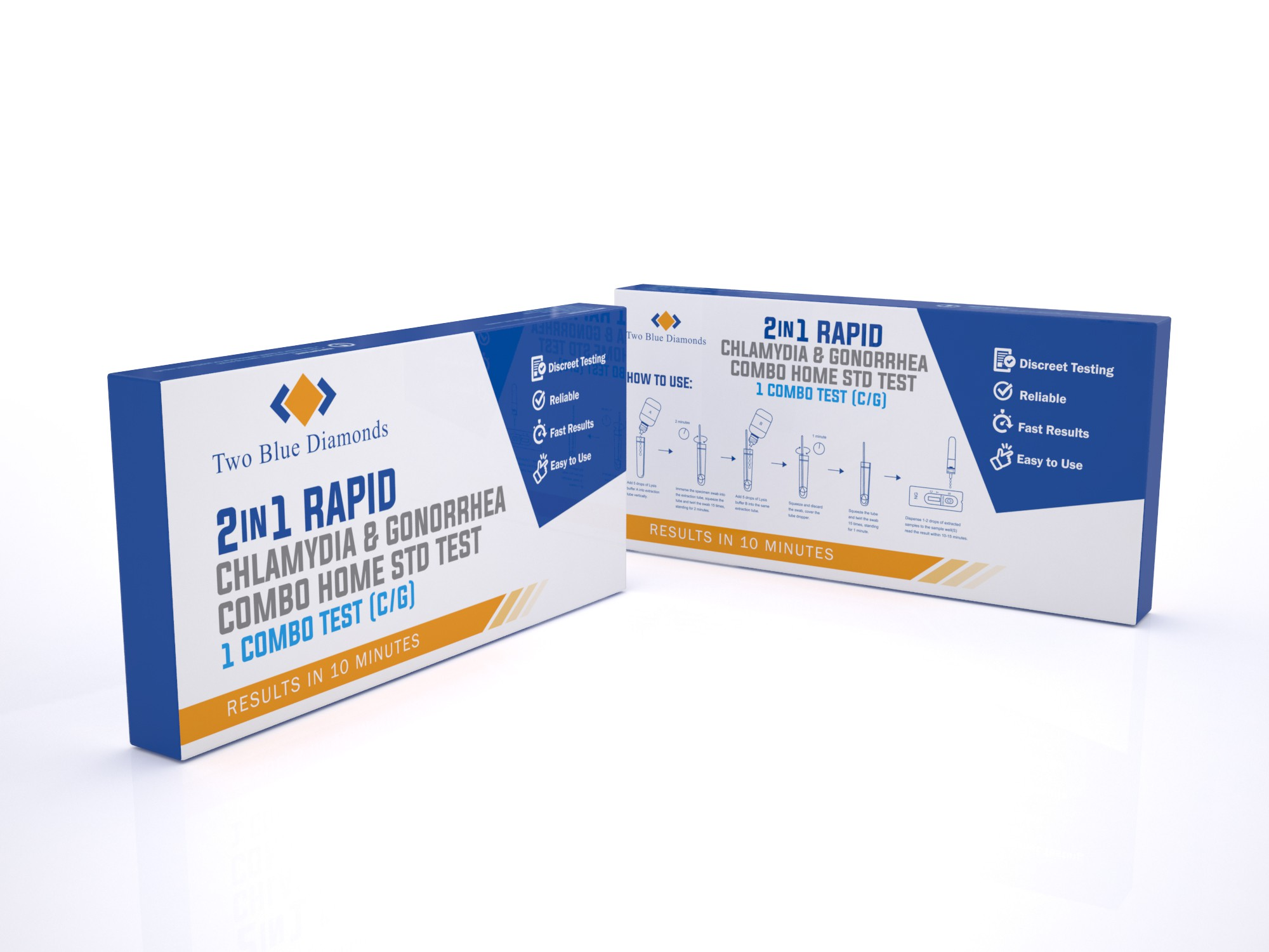 At Home Single STD Combo Test Kit Box (Chlamydia/Gonorrhea)