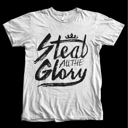 brush graffiti style hand lettering t shirt design