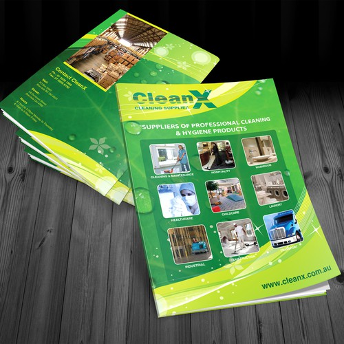 Help CleanX Cleaning Supplies with a new brochure design