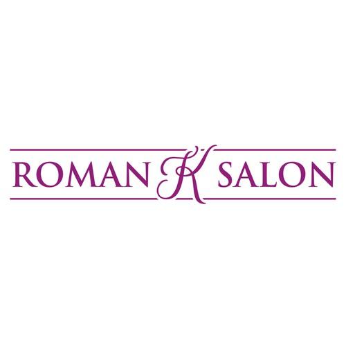 logo concept for roman K salon