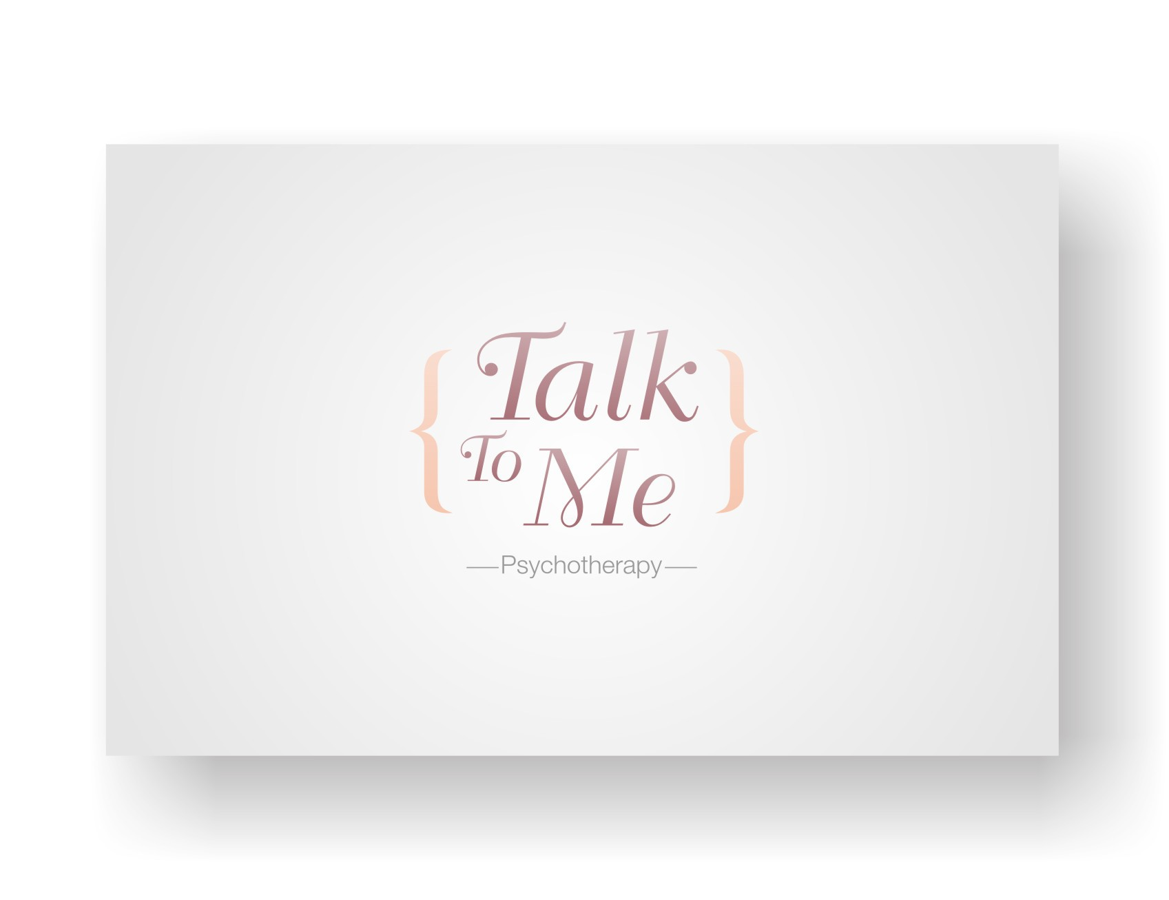 Talk To Me Psychotherapy needs a new logo