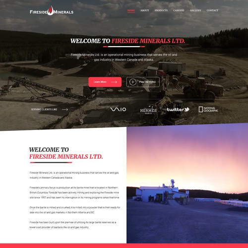 website for Fireside Minerals