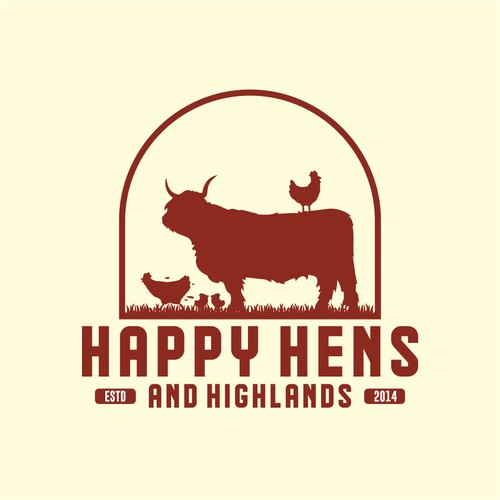 Logo for Happy Hens and Highlands